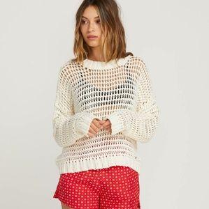 NWT | Volcom Daze Fly By Sweater - Star White